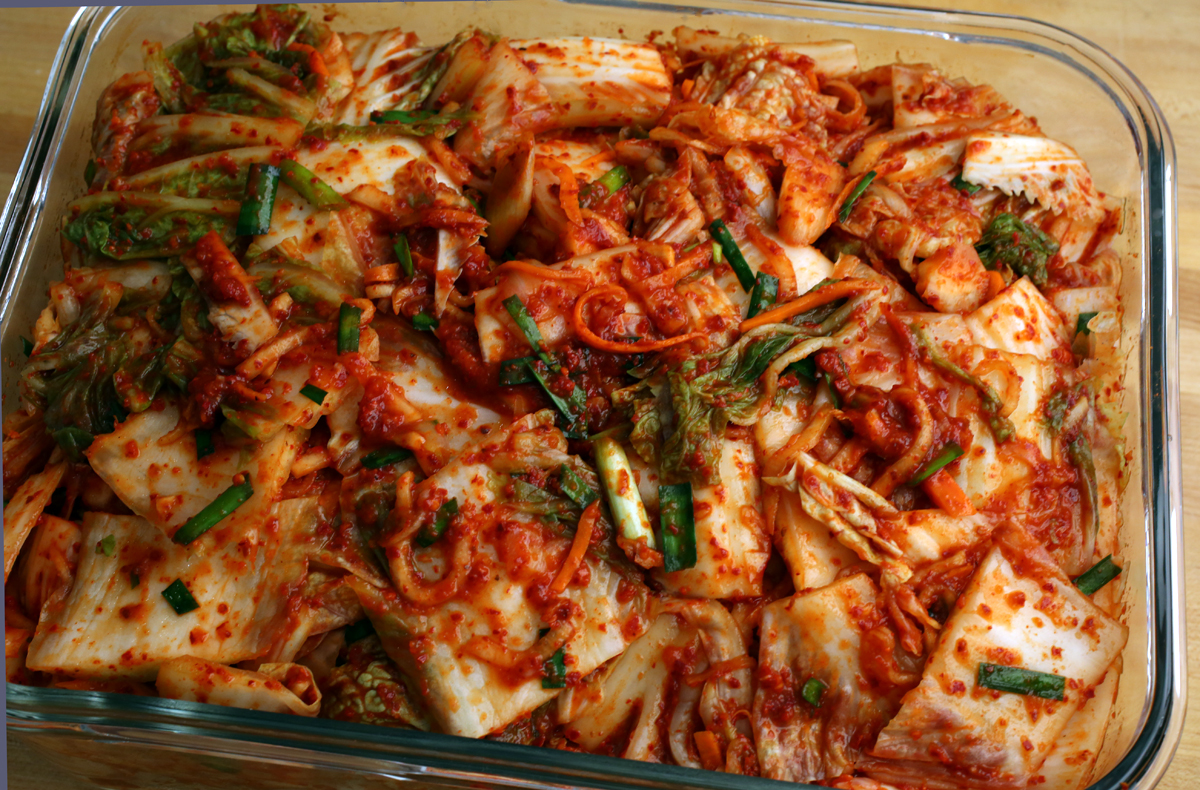 ran out of kimchi, so today was kimchi making day! I made 8 pounds ...