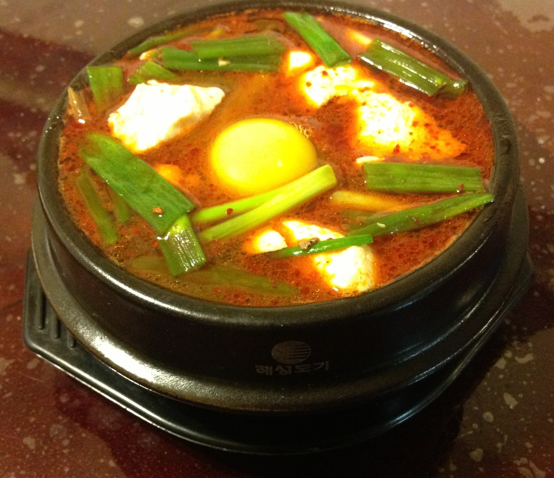 Korean food photo: 순두부 찌개 / Soondubu Jjigae (Spicy soft tofu ...