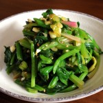 Korean Spinach side dish (시금치나물: Sigeumchi-namul)