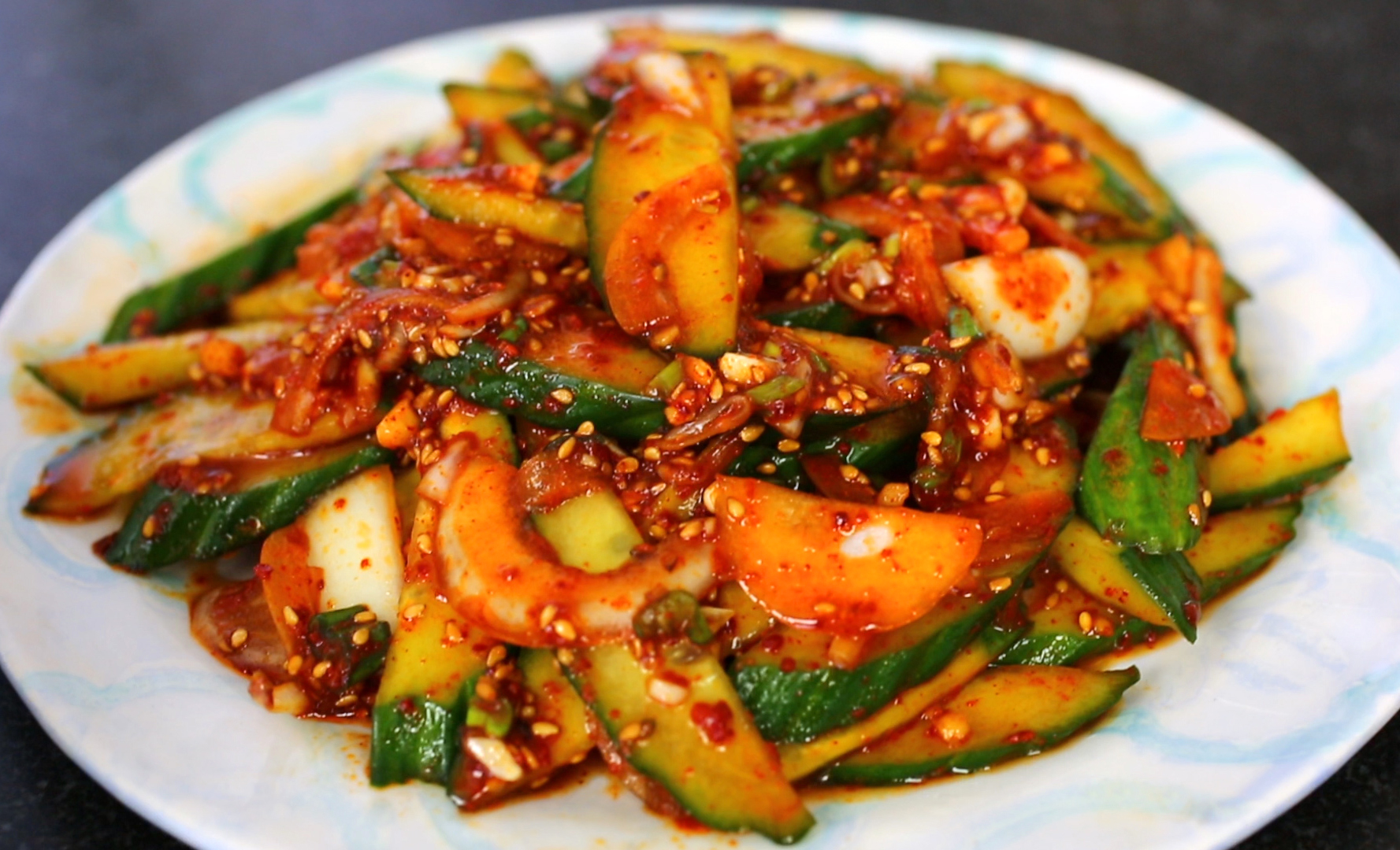 Spicy cucumber side dish recipe - Maangchi.com