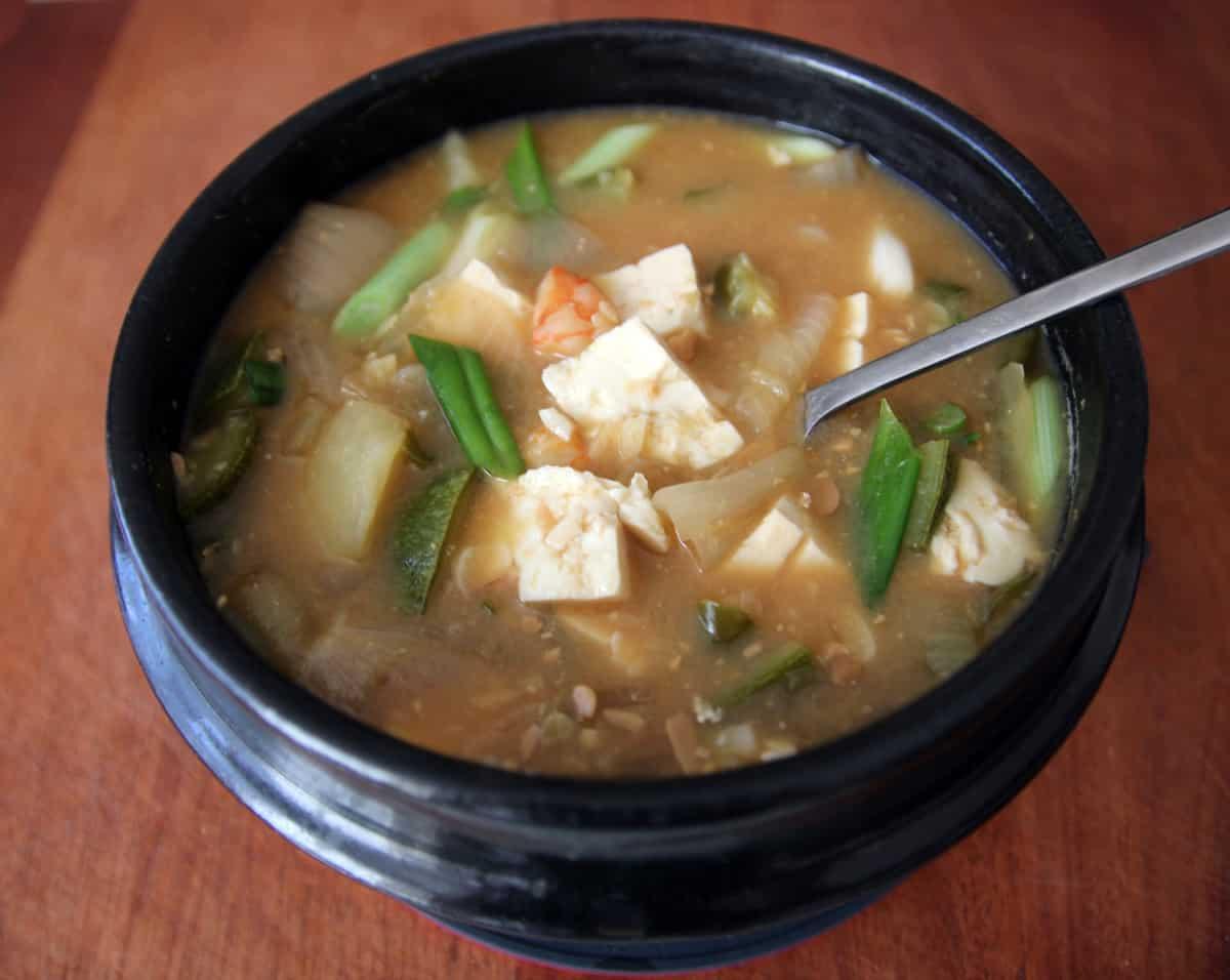 korean soybean paste soup
