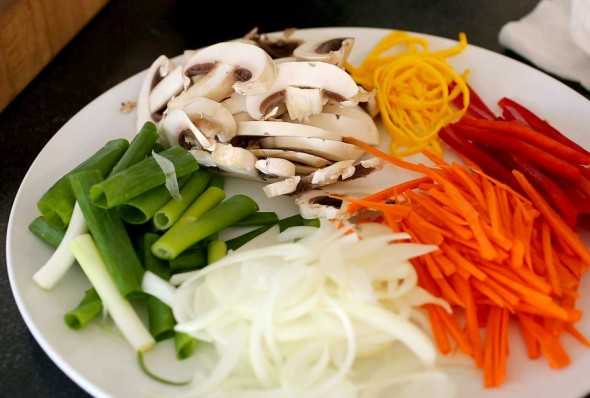 japchae vegetables