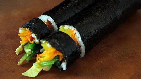 Gimbap rolls