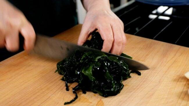 Korean seaweed-soaked