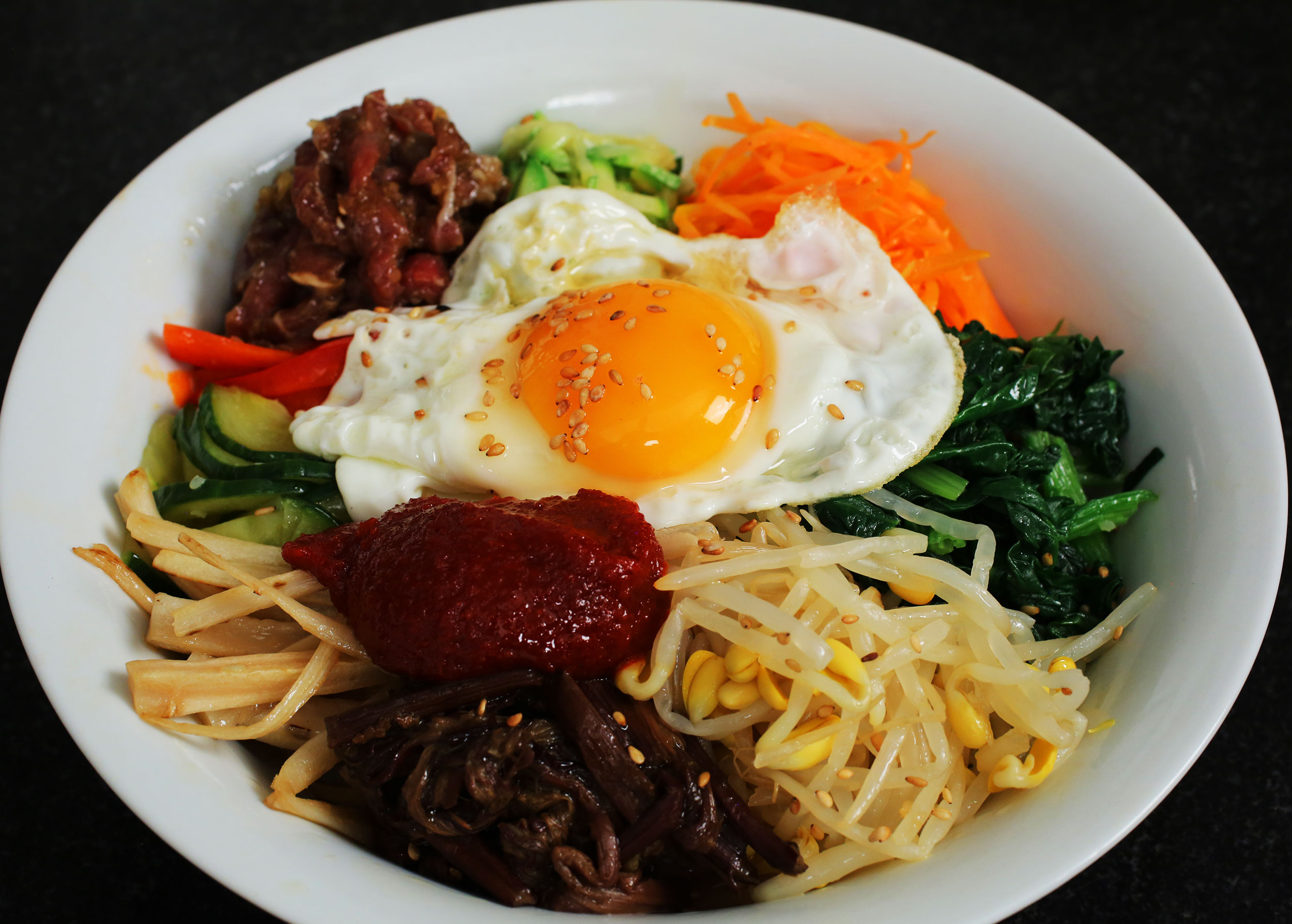 Bibimbap (Mixed rice with vegetables) recipe - Maangchi.com