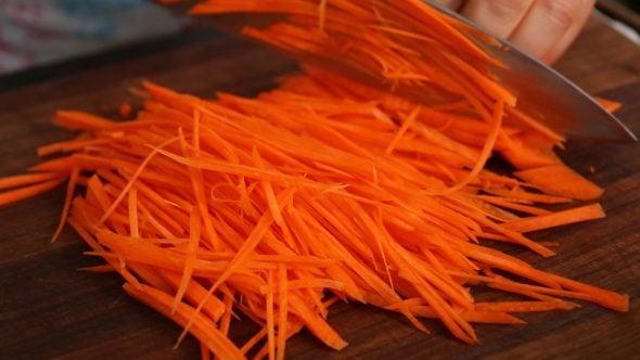 bibimbap carrot
