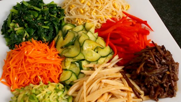 bibimbap vegetables