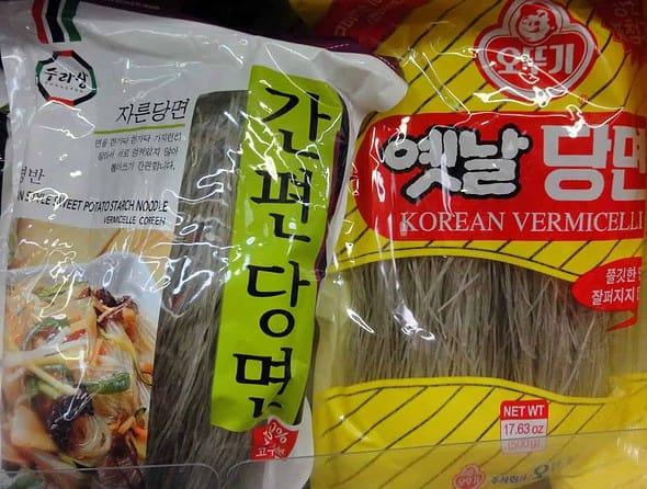 starch noodles (Dangmyeon)