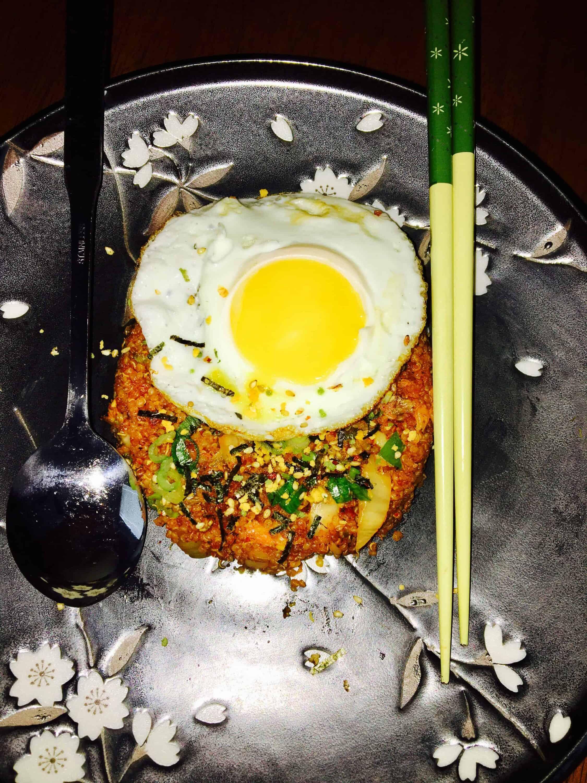 how to make kimchi fried rice maangchi
