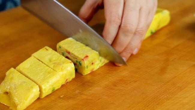 Korean rolled omlet
