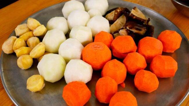 galbijjim vegetables