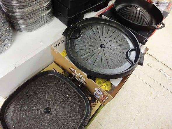 Korean grill plates