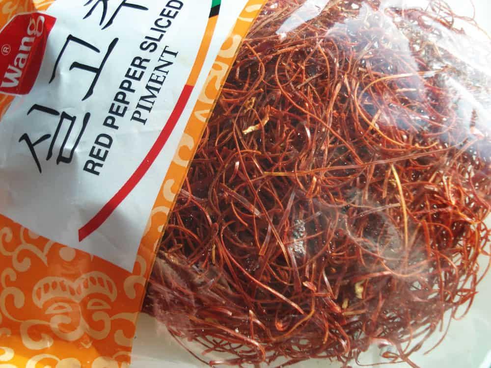 Shredded red pepper (Silgochu) - Korean cooking ...