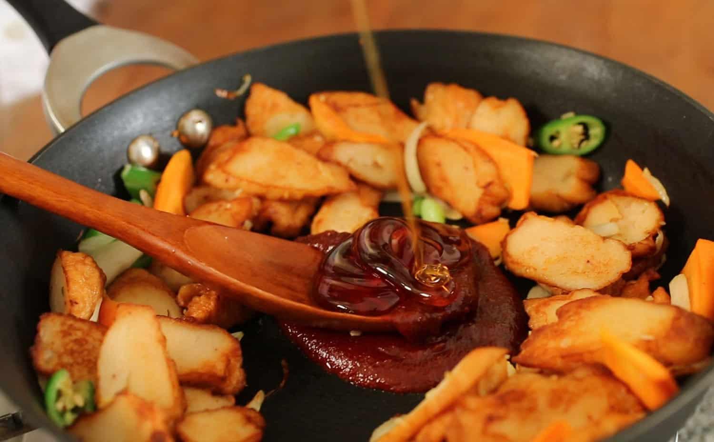 Recipe Of Korean Fish Cake: Spicy Stir-fried Fish Cakes (Eomuk-bokkeum) Recipe