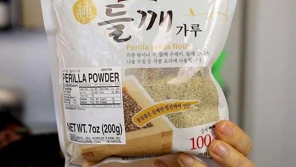 Perilla seed powder (deulkkae-garu: 들깨가루)