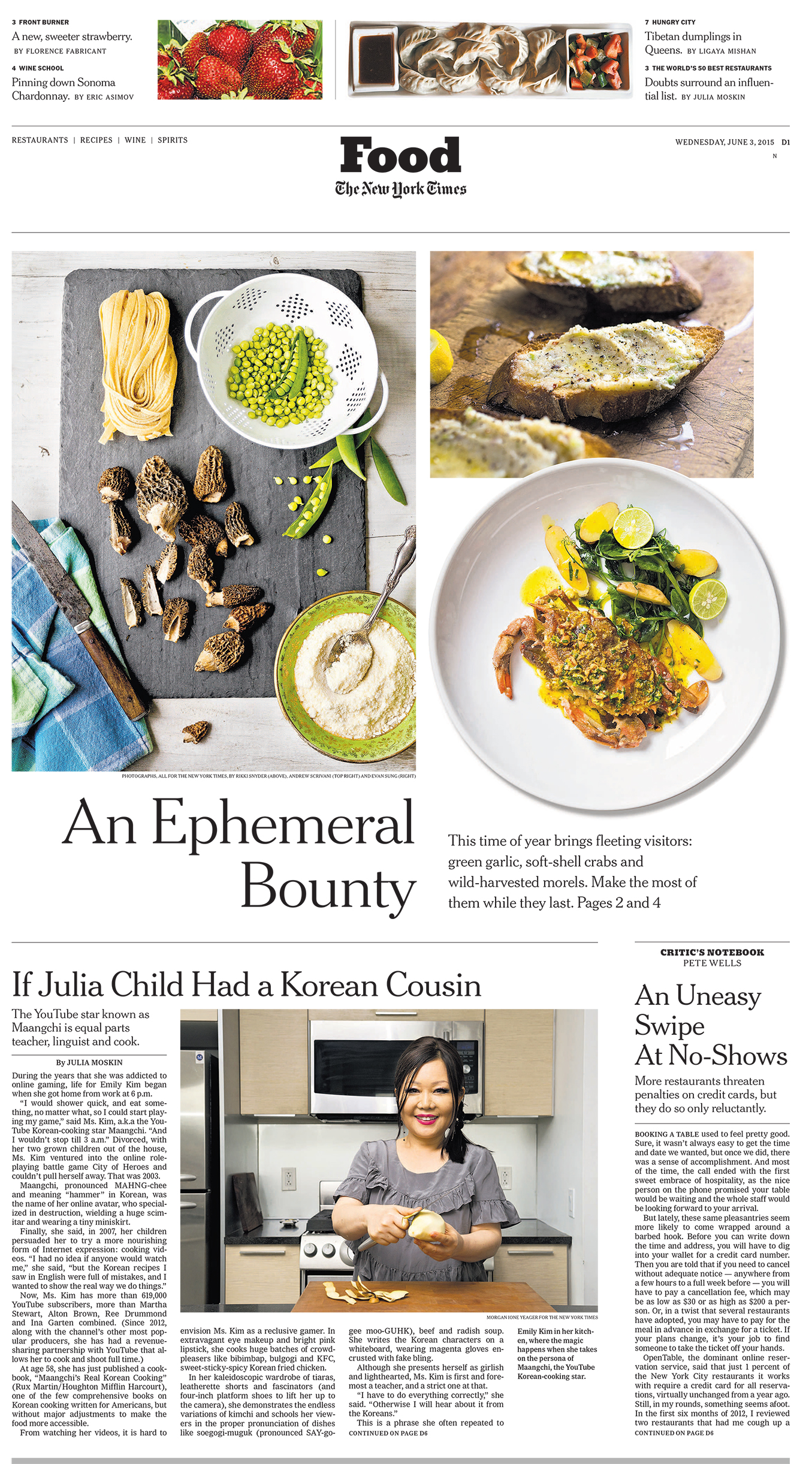 Maangchi in the New York Times 2015-06-03