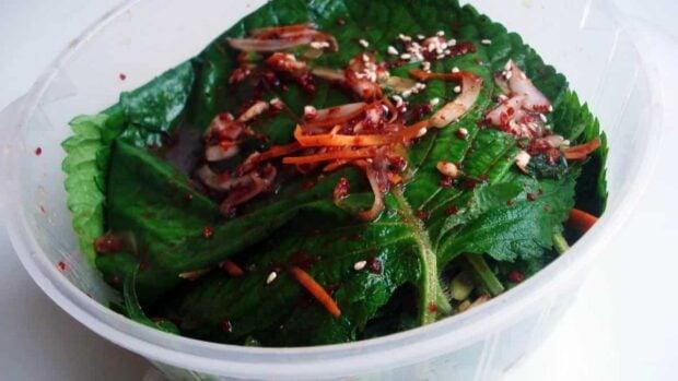 kkaennip-kimchi