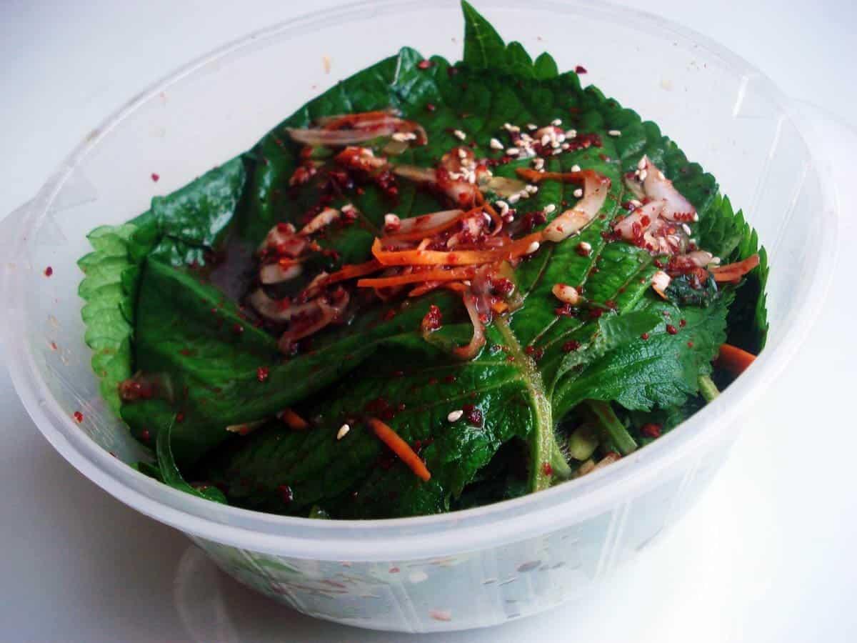 Image result for pickled korean perilla leaves