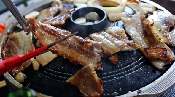 grilled porkbelly (samgyeopsal)