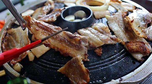 grilled-porkbelly (삼겹살구이)
