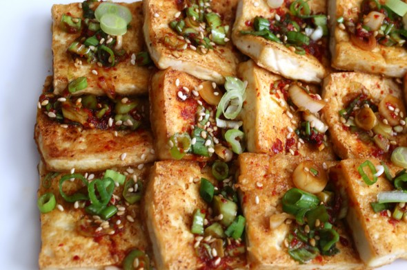 Korean tofu side dish