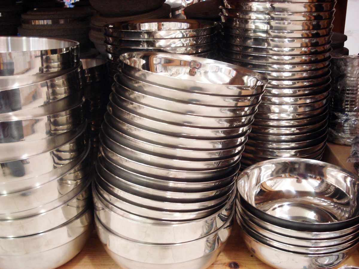 Korean Cooking Kitchenware Stainless Steel Bowl