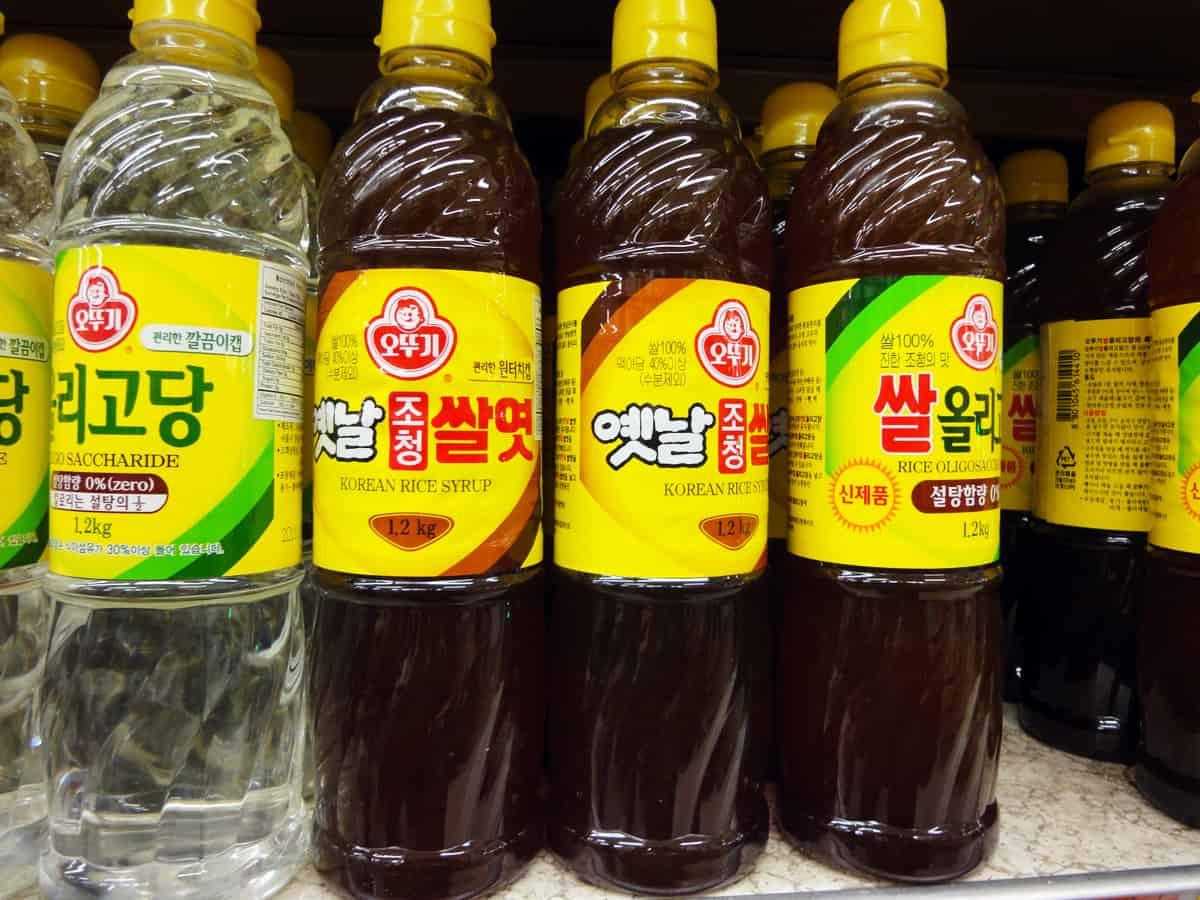 Rice syrup (Ssalyeot) - Korean cooking ingredients