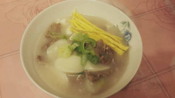 Korean ricecake soup