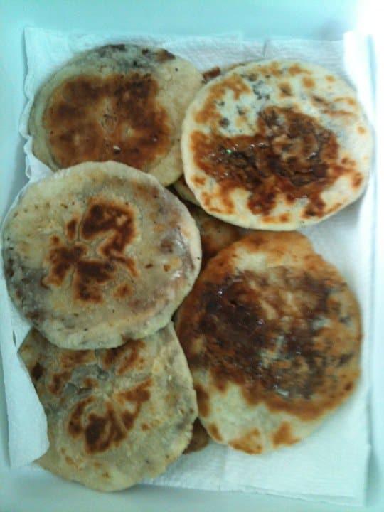 Korean food photo: Hoddeok (Sweet pancakes with brown ... Hoddeok Korean Sugar Pancakes