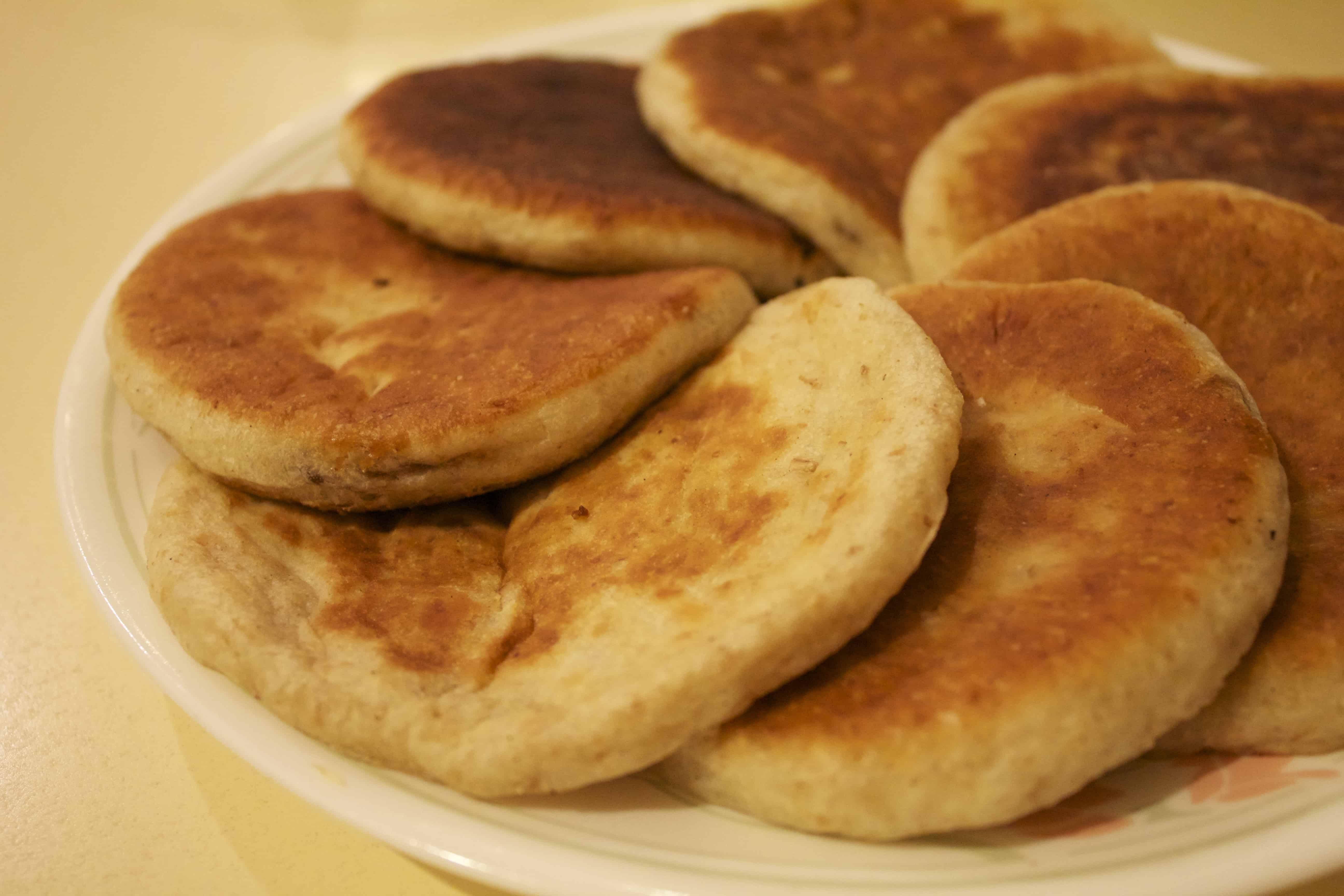 Korean food photo: Sweet pancakes with brown sugar syrup ... Hoddeok Korean Sugar Pancakes