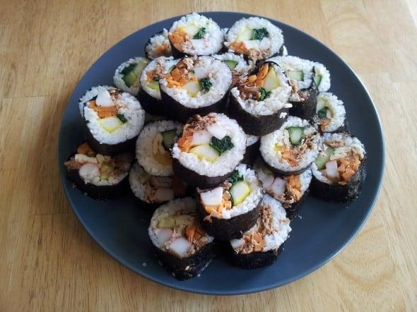 Kimbap (Seaweed rice rolls)