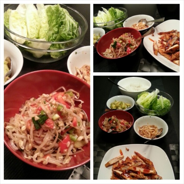 Korean BBQ and Soybean sprout side dish