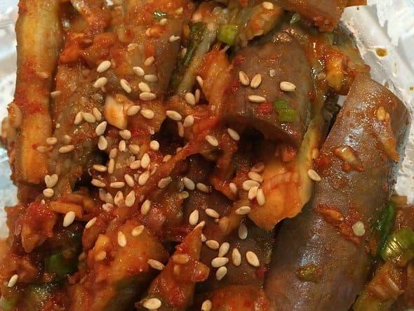 Garden Eggplant sidedish Gaji-namul 가지나물