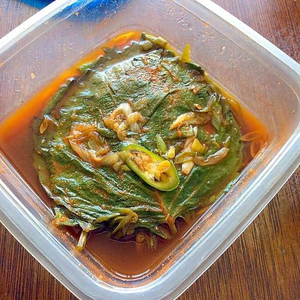 Day 2 perilla leaf kimchi