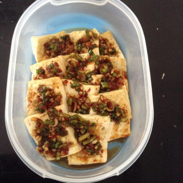 Pan fried tofu Banchan
