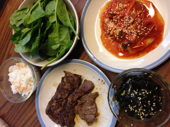My yummy korean lunch .