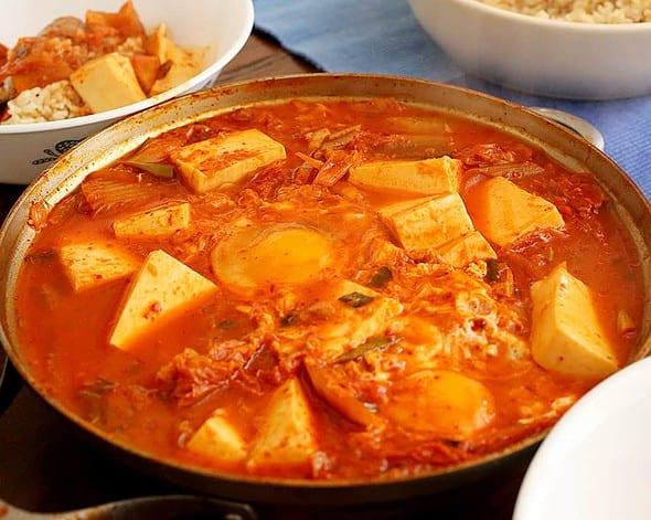 Kimchi-jjigae for lunch