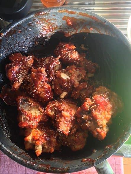 Delicious spicy chicken