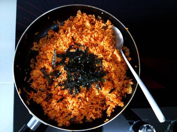 Butter-kimchi fried rice
