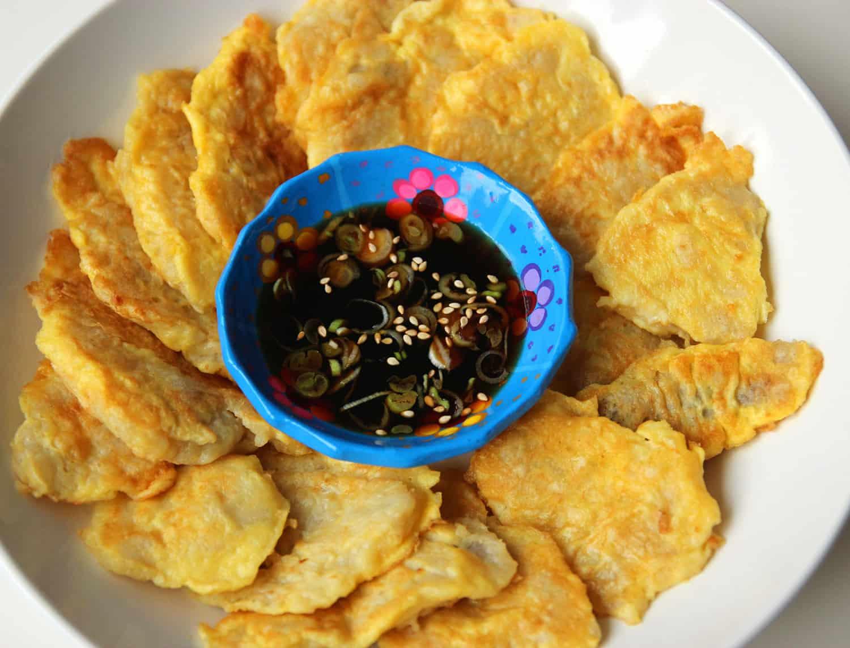 Pollock Pancakes Dongtaejeon Recipe Maangchi Com