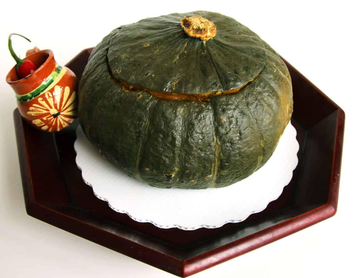 Danhobakbap kabocha with rice stuffing recipe maangchi forumfinder Gallery