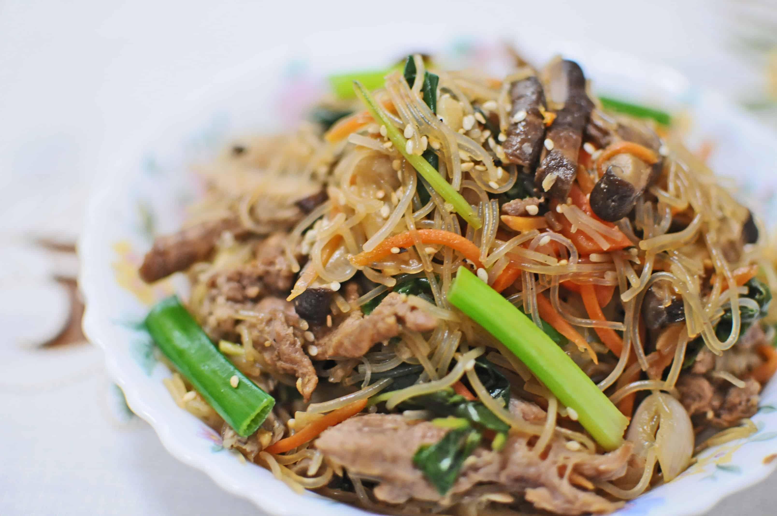 japchae recipe malaysia Korean food photo: Japchae Made in Malaysia - Maangchi.com