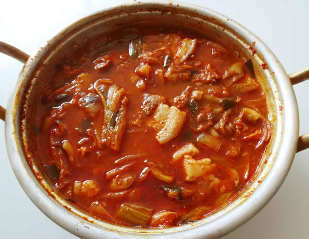 Korean food photo: kimchi stew - Maangchi.com
