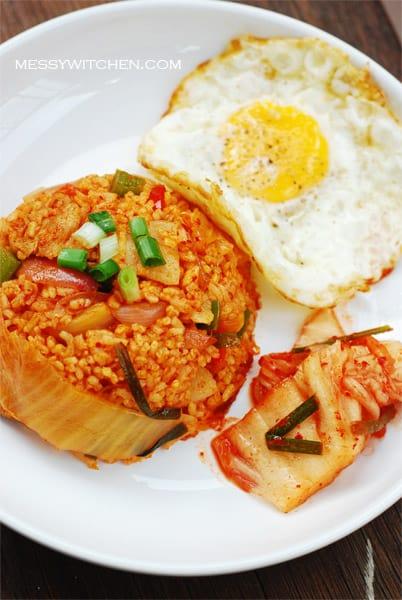 Korean Food Photo Kimchi Fried Rice Maangchi Com