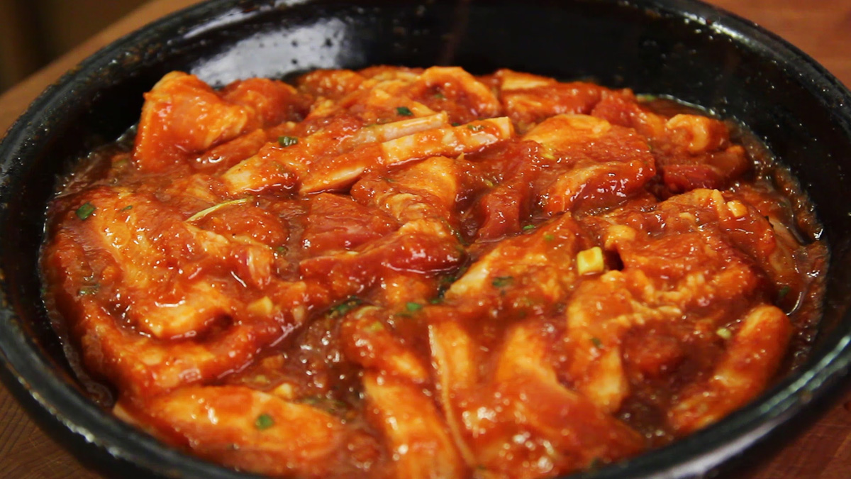 Recipe spiced belly of pork
