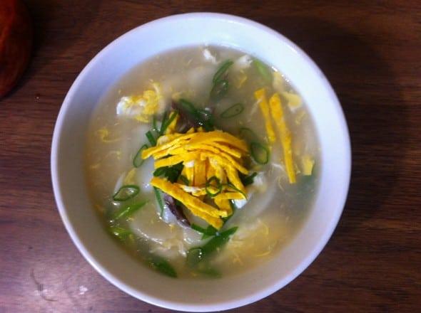 rice cake soup