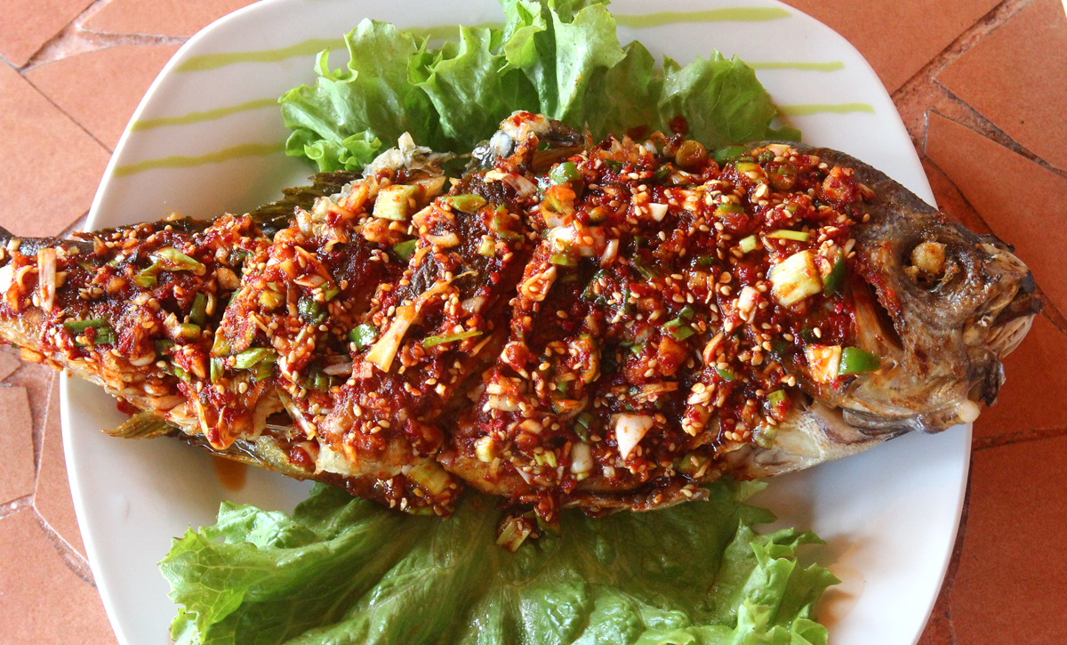 Fried Snapper With Seasoning Sauce Domi Yangnyeom Gui