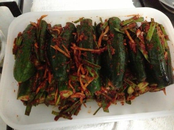 stuffed cucumber kimchi