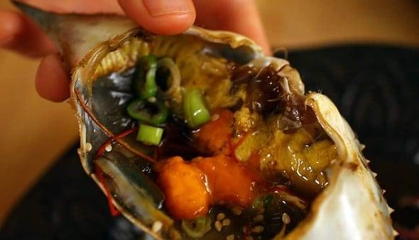 ganjang-gejang shell