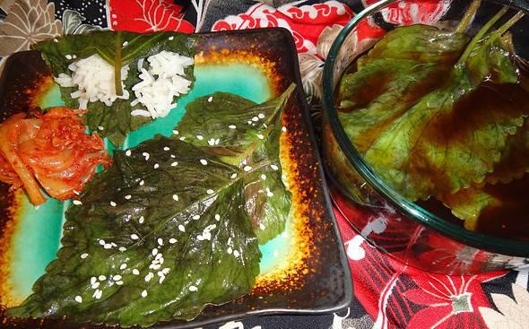 092113-Homegrown-Perilla-Leaves-Maangchi-Recipe-5